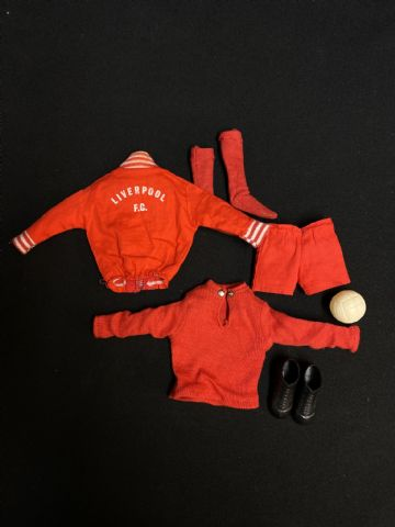 VINTAGE ACTION MAN  - LIVERPOOL FOOTBALL KIT
